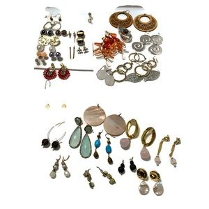 33 pairs of earrings reseller wearable mystery lot